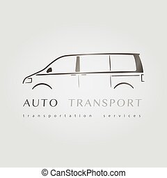 Minivan flat logo. - Template of identity for Car Company....