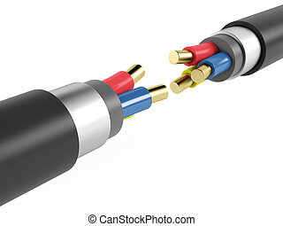 Electric copper armored cable