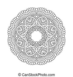 simple floral mandala - Abstract indian floral mandala,...