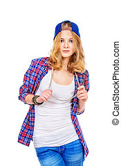 every day clothes - Modern teenager girl wearing casual...