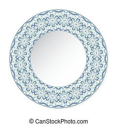 decorative plate with circular pattern