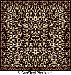 Square gold pattern