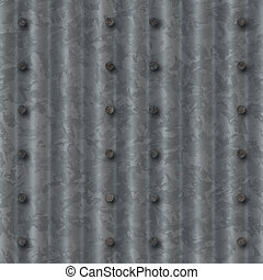 ribbed metal with nails - ribbed silver steel metal texture...