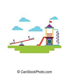 beautiful children playground icon