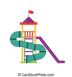 beautiful children playground icon vector illustration...