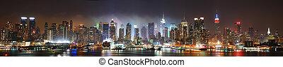 New York City panorama - New York City Manhattan skyline...