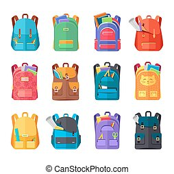 Colored School Backpacks Set - Colored school backpacks set....