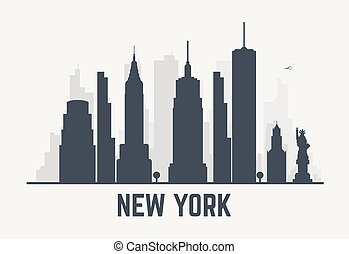 New York city lines - New York city architecture skyline...