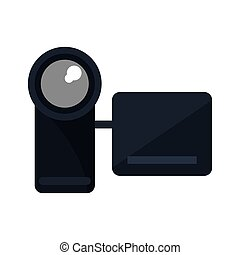 Isolated videocamera device design - Videocamera icon....
