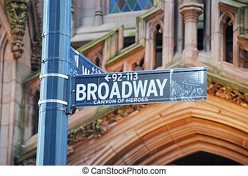 Broadway, New York City - Broadway road sign, New York City