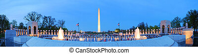 Washington monument panorama, Washington DC - WASHINGTON DC...