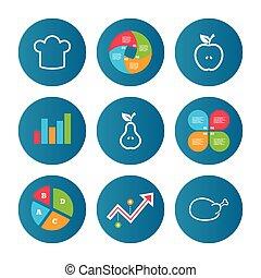Symboler,  Äpple, mat, Päron, ikonen, frukt
