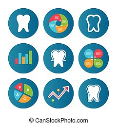 Tooth enamel protection icons. Dental care signs. - Business...