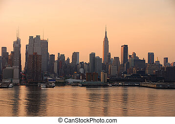 Manhattan skyline, New York City - New York City Manhattan...