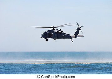 Black Hawk helicopter - JONES BEACH - MAY 30: US Army UH-60...