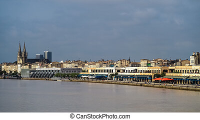 View across the River Garonne towards the Church of St...