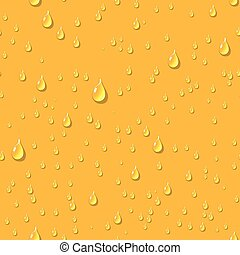 Water transparent drops beer seamless pattern. - Water...