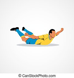 soccer player celebrating - Soccer player happy after...