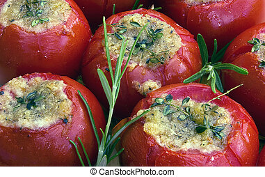 tomatoes provencal - grilled tomatoes in provencal style