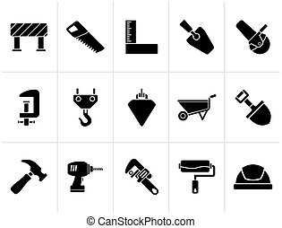 Construction Tools icons - Black Construction industry and...