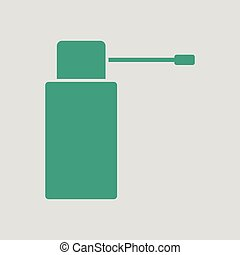 Inhalator icon. Gray background with green. Vector...