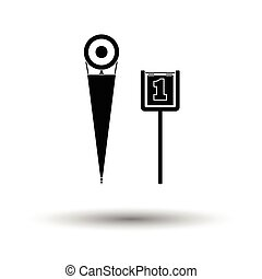 American football sideline markers icon. White background...