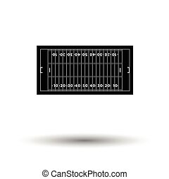 American football field mark icon. White background with...