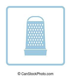 Kitchen grater icon. Blue frame design. Vector illustration.