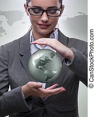 全球, 從事工商業的女性, 概念, 事務