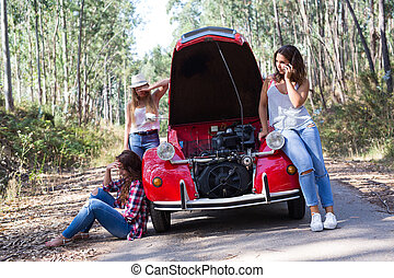 Oh no! Vacations are just starting! - Friends on a roadtrip...