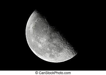 Moon detailed closeup - The Moon detailed shot taken at...