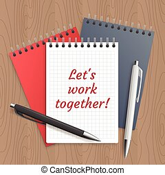Text: lets work together