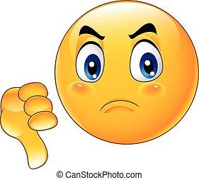 Cartoon dislike emoticon - Vector illustration of Cartoon...