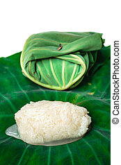 Kaomark, sweetmeat consisting of fermented glutinous rice. -...