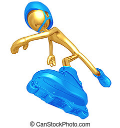 Roller Skating - A Concept And Presentation Figure In 3D