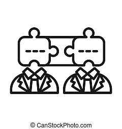 partnership cooperation vector illustration design