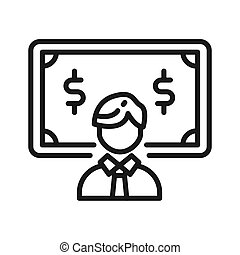 employee wages vector illustration design