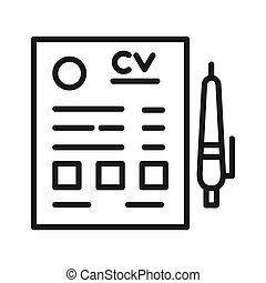 cv resume vector illustration design