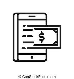 mobile banking vector illustration design