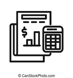 budget accounting vector illustration design