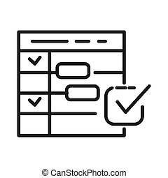 schedule planning vector illustration design