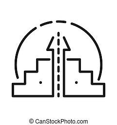 career raise vector illustration design