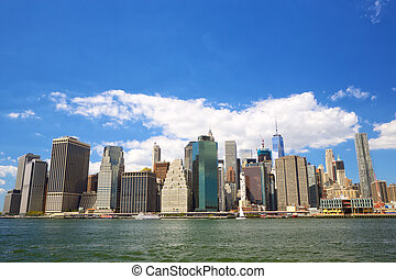Lower Manhattan skyline - New York City Lower Manhattan...
