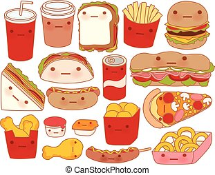 Template - Collection of lovely baby food doodle icon , cute...