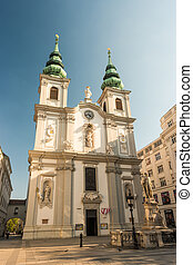 Beautiful view of famous Saint Charles's Church
