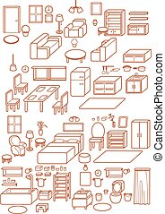 Template - Collection of Adjustable Interior Furniture...