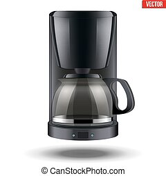 Coffee maker with glass pot. - Classic Drip Coffee maker...