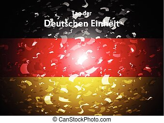 Day of German unity abstract design. Tag der deutschen Einheit