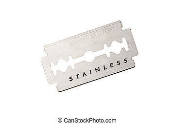 Razor blade - An old stainless steel razor blade