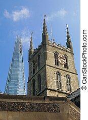 London Shard & Southwark Cathedral - London's iconic Shard...